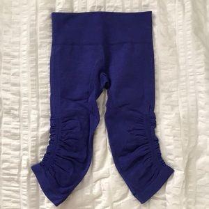Lululemon cropped purple leggings